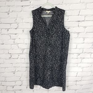 Eileen Fisher Black and White Dot Cotton Dress